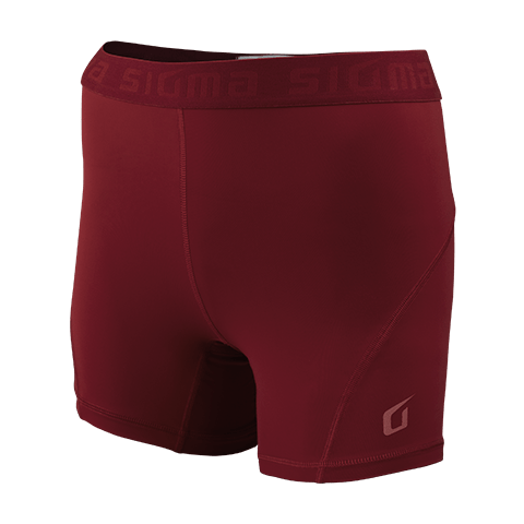 Sigma Compression Shorts MAROON WOMEN