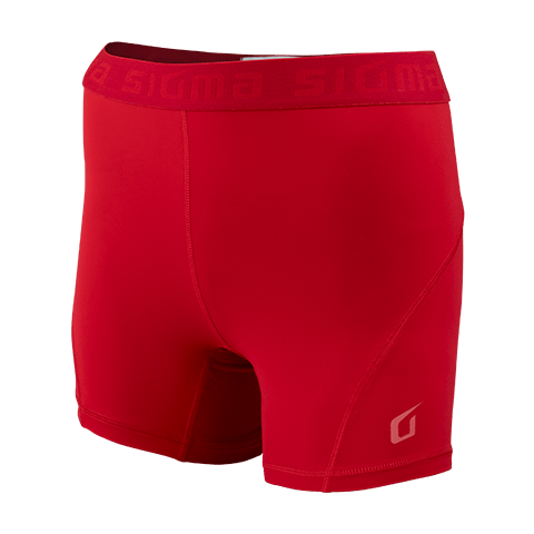 Sigma Compression Shorts RED WOMEN