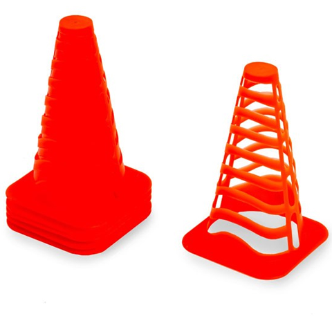 Slotted Cones x 6